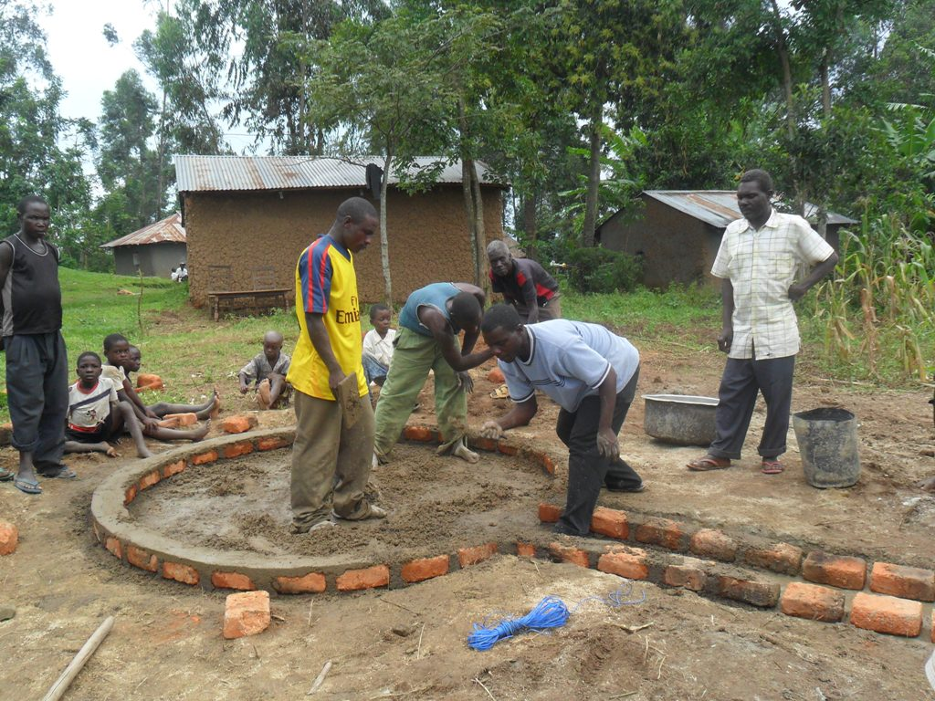 The Water Project : pad-construction-mayungu-2