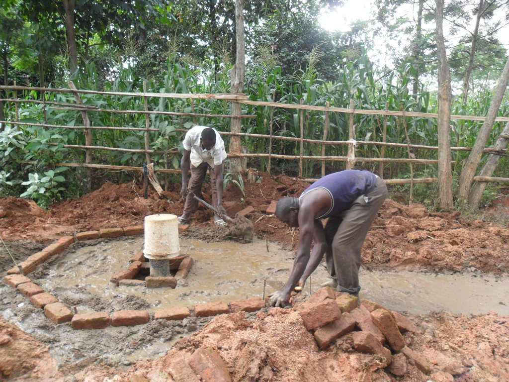 The Water Project : pad-construction-wambenge-community