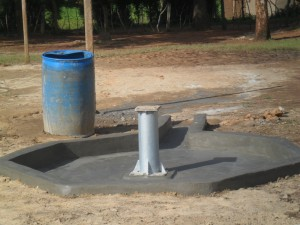 The Water Project : constructed-pad-nabingenge-primary-2