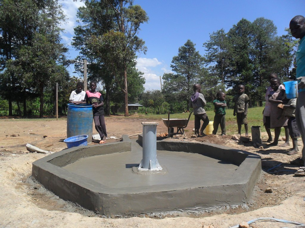 The Water Project : nabingenge-constructed-pad