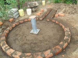 The Water Project : pad-construction-eshiamache-community-2