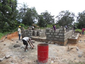 The Water Project : walls-going-up-800