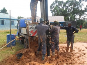 The Water Project : casing-the-bushiangala-technical-institute