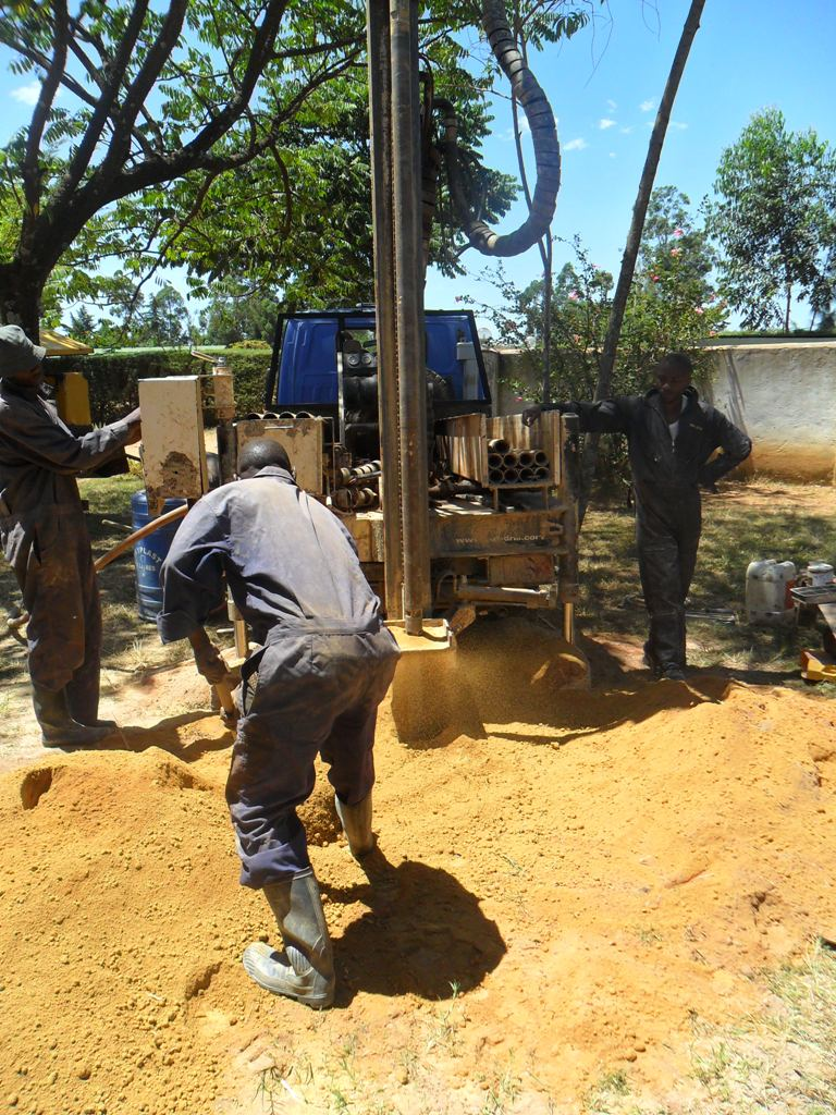 The Water Project : drilling-igunga-sec-school-2-3