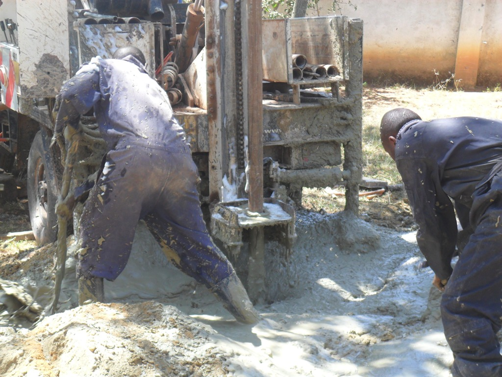 The Water Project : drilling-igunga-sec-school-4-2
