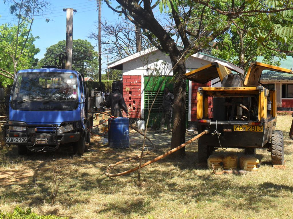 The Water Project : drilling-igunga-sec-school-6-2