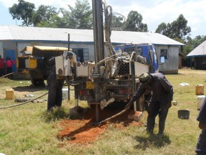 The Water Project : drilling-begins-bushiangala-technical-institute