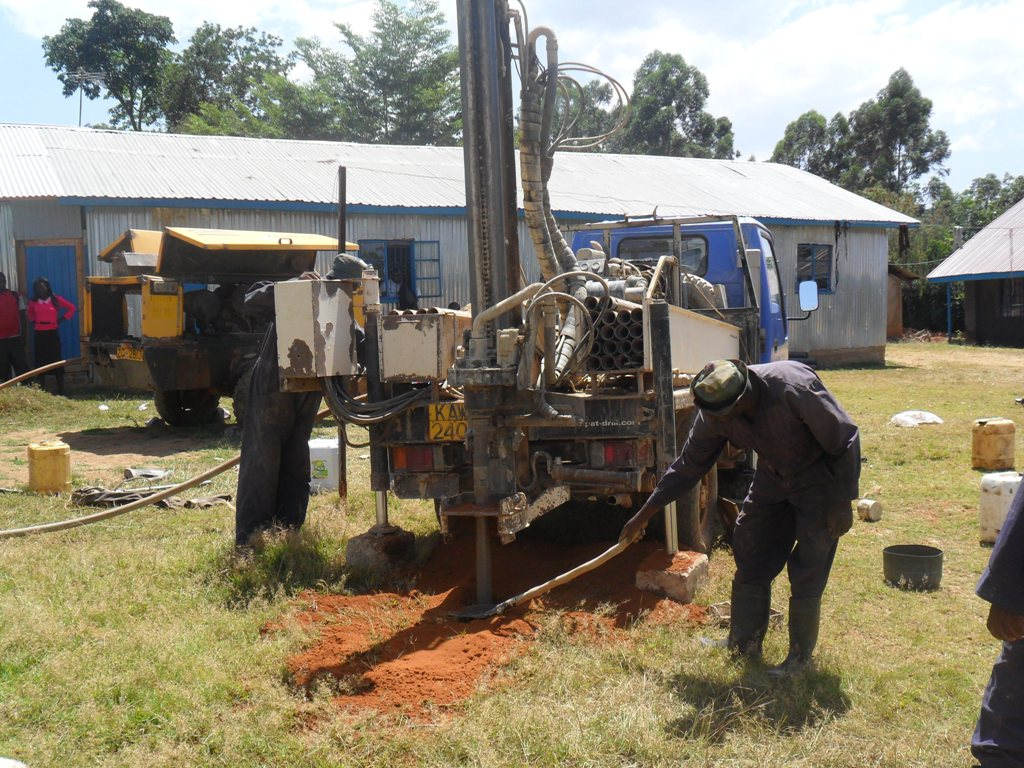 The Water Project : drilling-begins-bushiangala-technical-institute-2