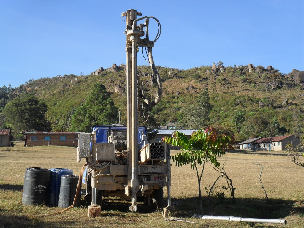 The Water Project : drilling-begins-at-magale-secondary-1-2