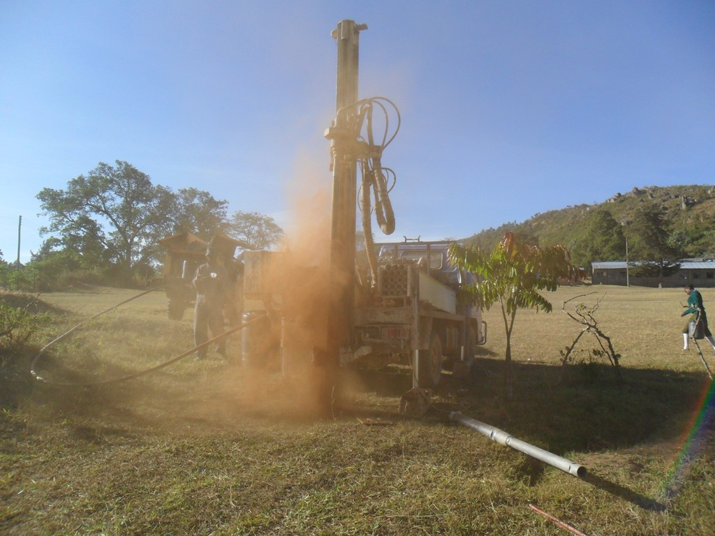 The Water Project : drilling-begins-at-magale-secondary-2-2