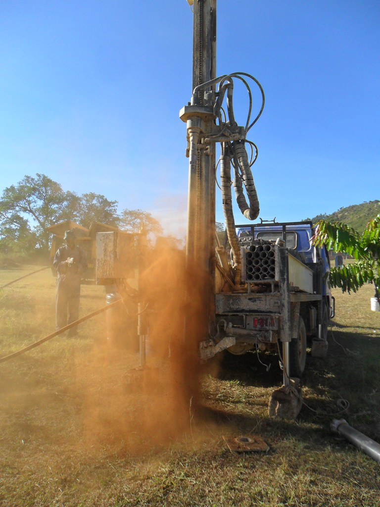 The Water Project : drilling-begins-at-magale-secondary-3-2