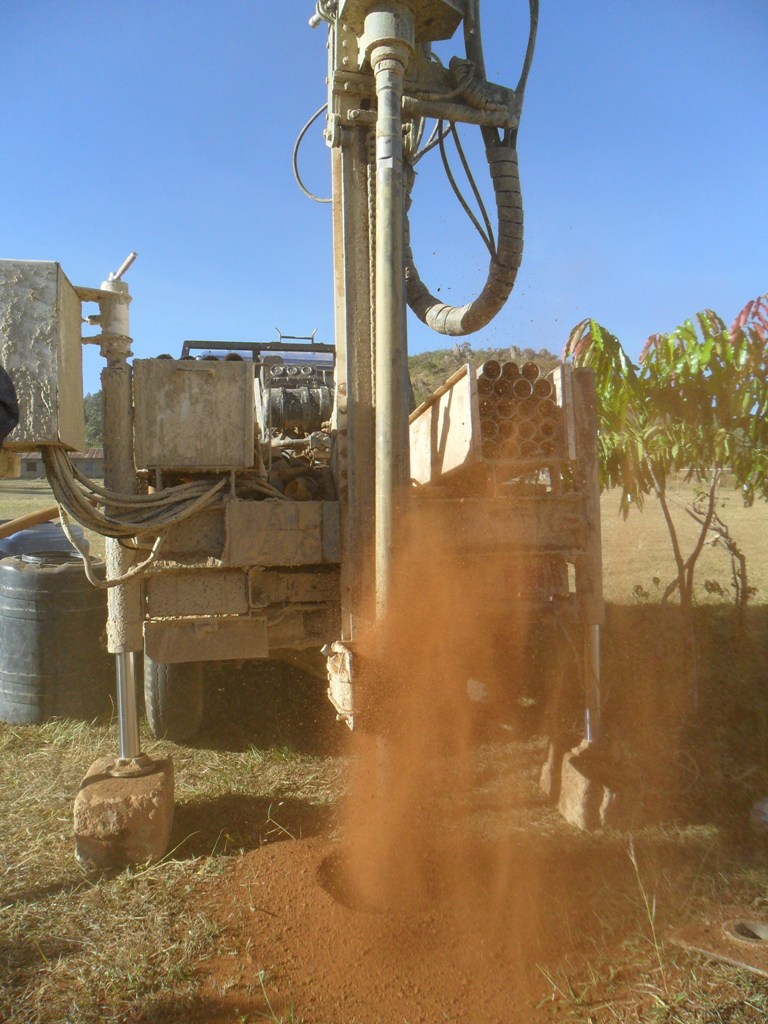 The Water Project : drilling-begins-at-magale-secondary-4-2