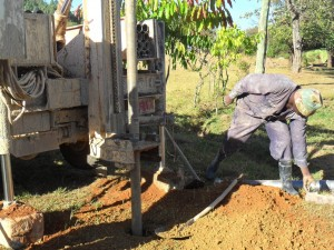 The Water Project : drilling-begins-at-magale-secondary-5