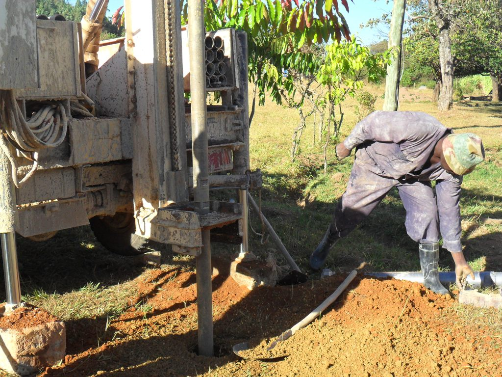 The Water Project : drilling-begins-at-magale-secondary-5-2