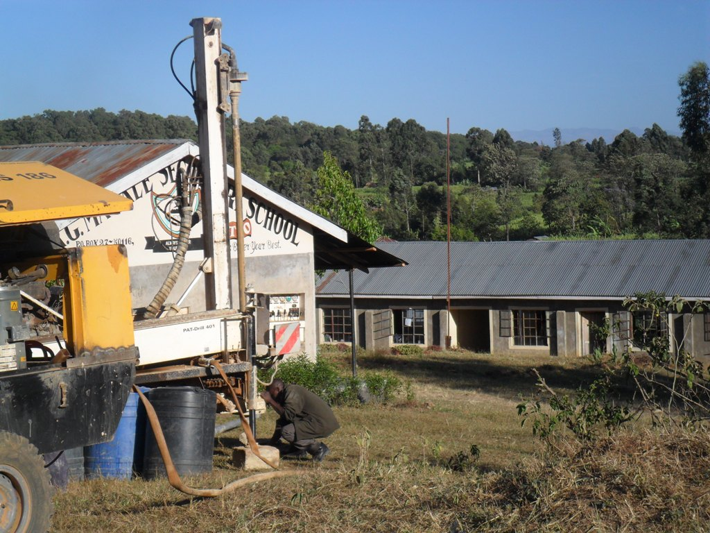 The Water Project : drilling-begins-at-magale-secondary-8