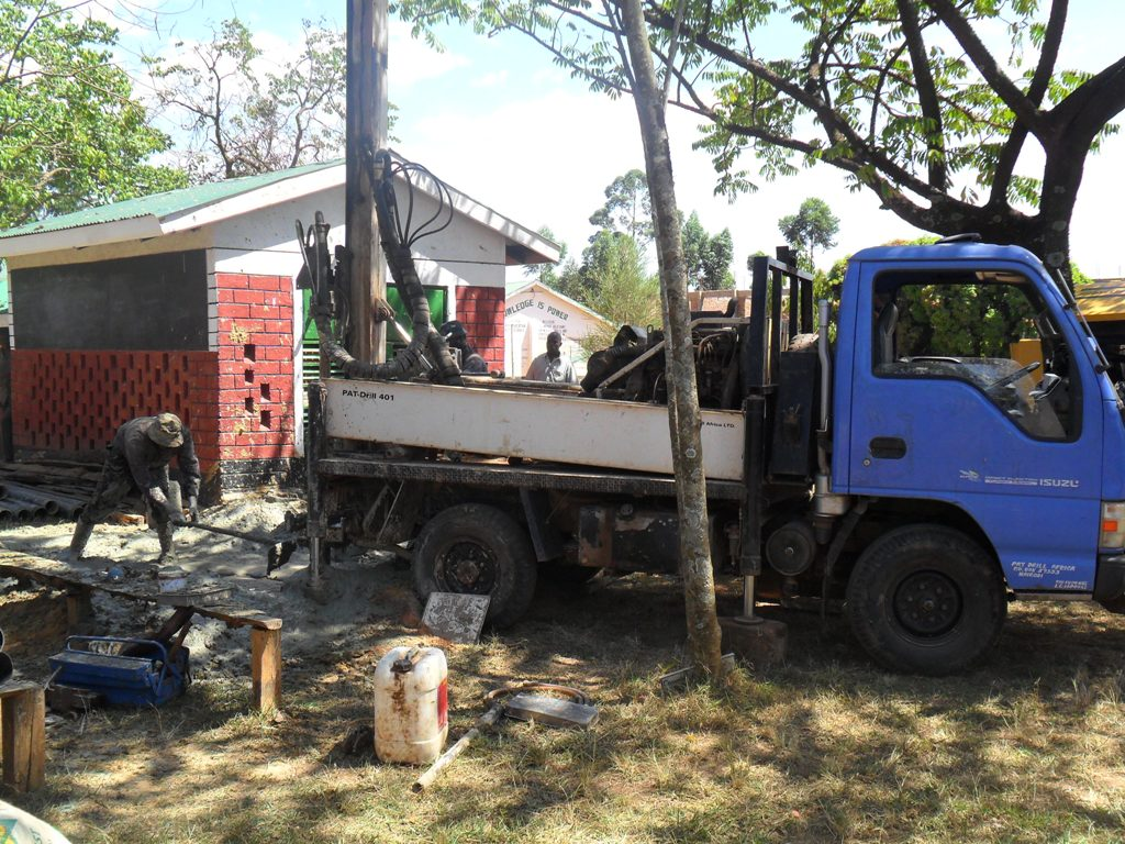 The Water Project : drilling-in-igunga-sec-school-2
