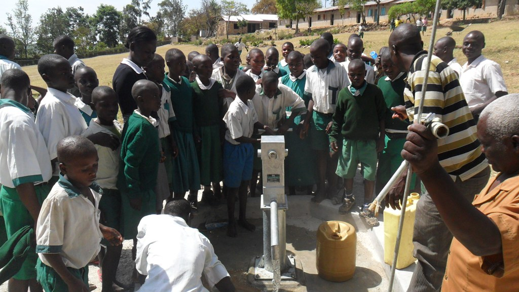 The Water Project : happy-malinda-primary-pupils-at-their-water-project