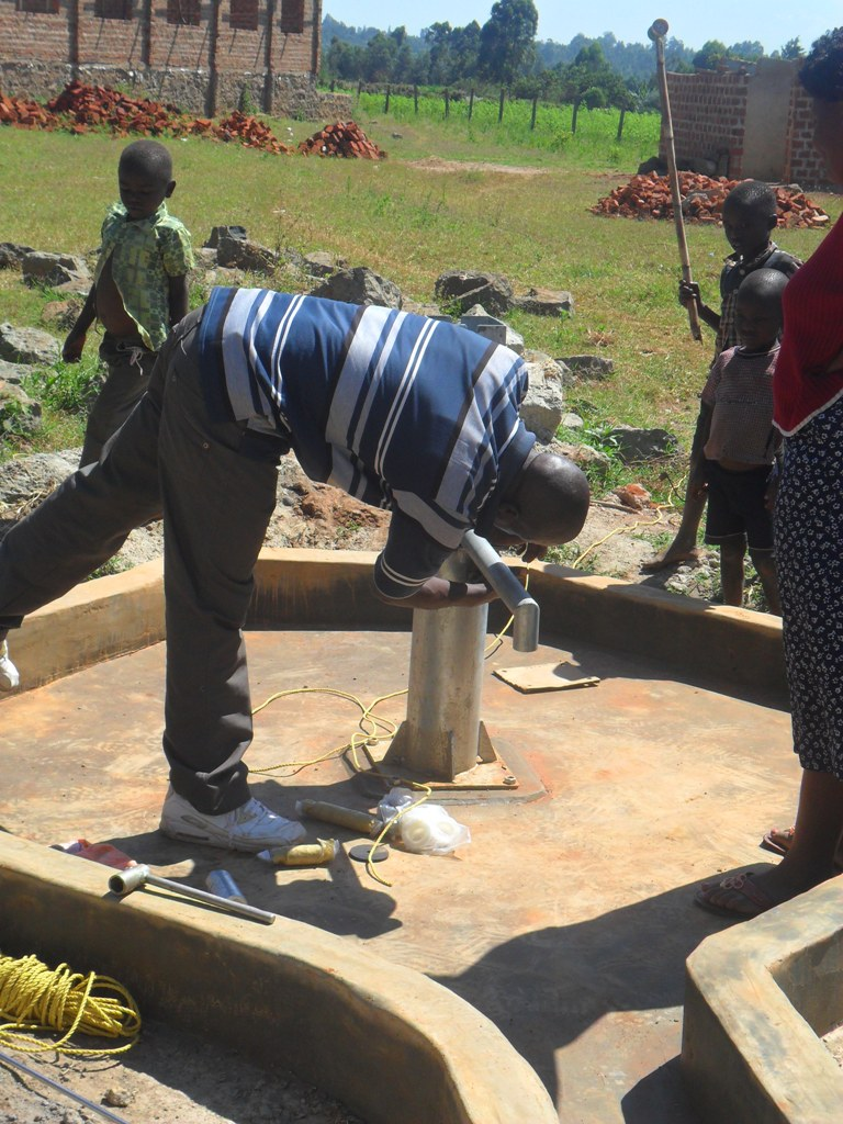 The Water Project : hofaland-pump-installation-1-2
