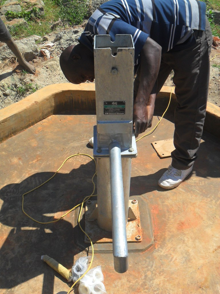 The Water Project : hofaland-pump-installation-2-2