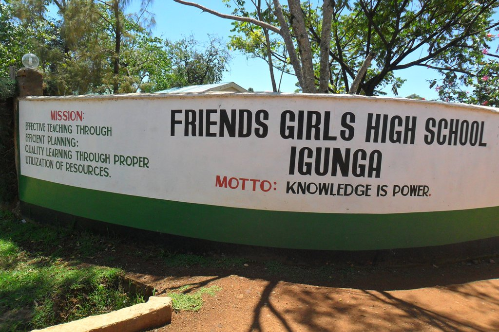 The Water Project : igunga-girls-entrance-gate-2