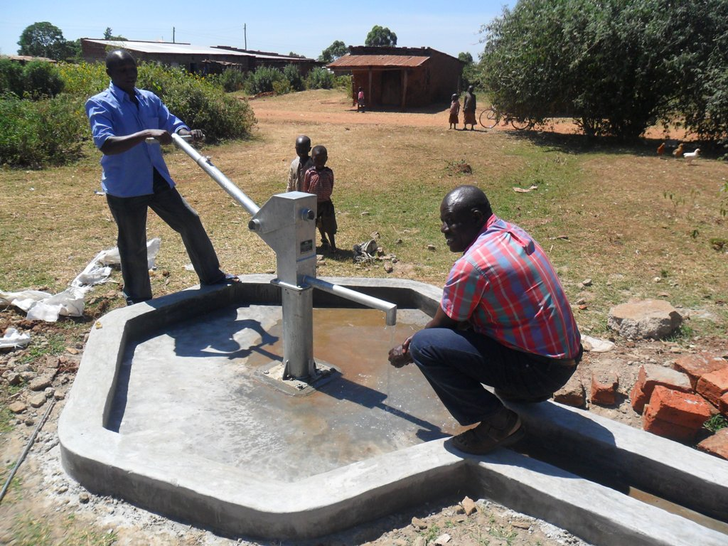 The Water Project : karima-market-pump-installed-2