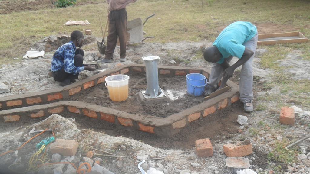 The Water Project : pad-construction-karima-health-centre-2
