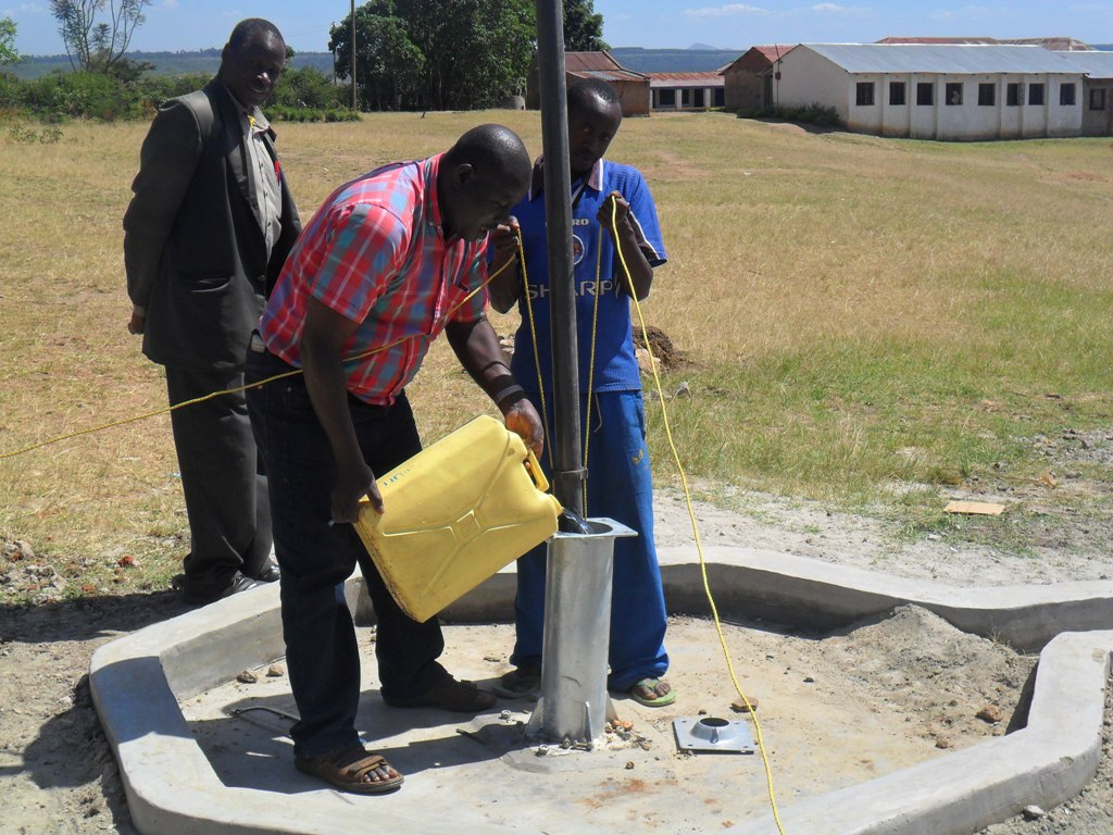 The Water Project : soysambu-primary-school-pump-installation-2