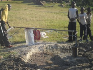 The Water Project : test-pumping-soysambu-primary