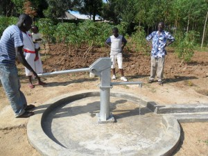 The Water Project : water-flowing-eshiamache-community-well