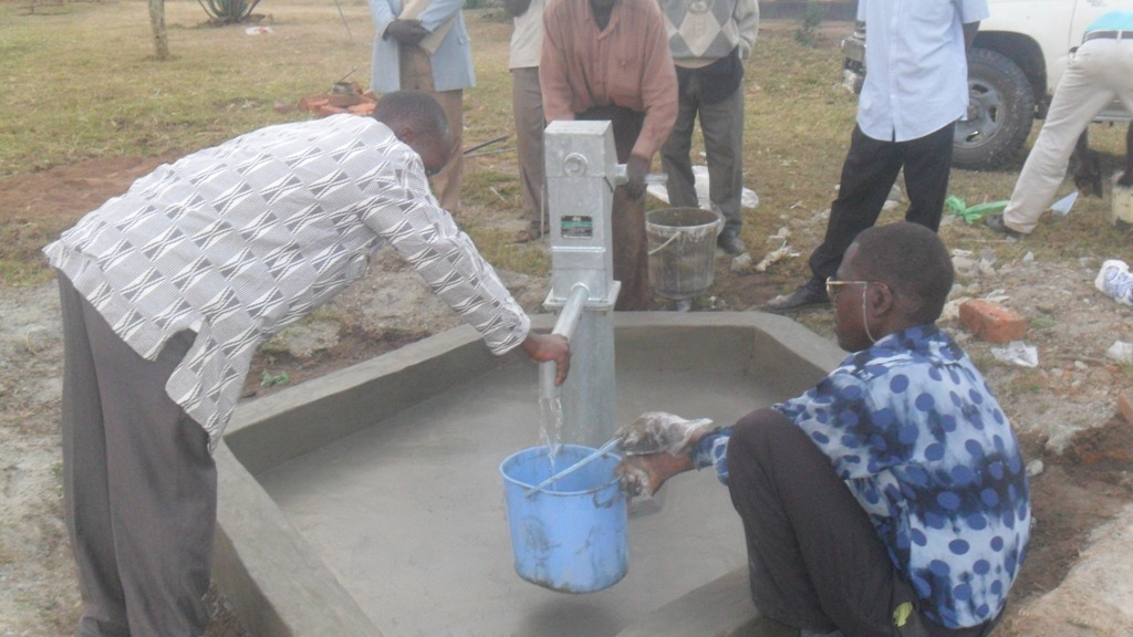 The Water Project : water-flowing-karima-health-centre-2