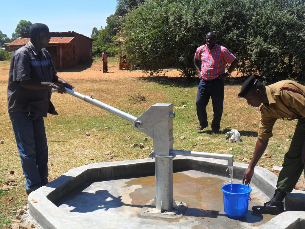 The Water Project : musembe-market-pump-installed-2
