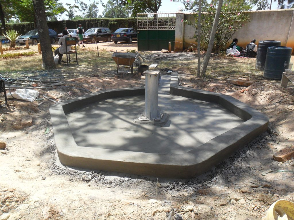 The Water Project : constructed-pad-igunga-secondary-2