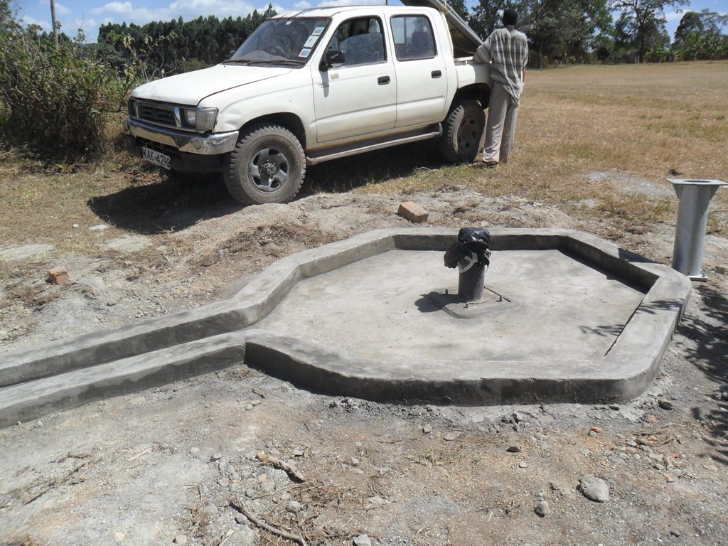 The Water Project : constructed-pad-magale-secondary-1-2