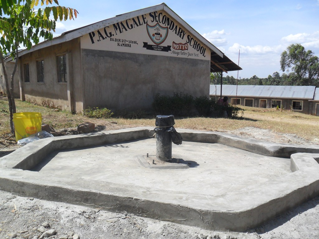 The Water Project : constructed-pad-magale-secondary-3-2