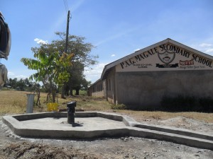 The Water Project : constructed-pad-magale-secondary-4