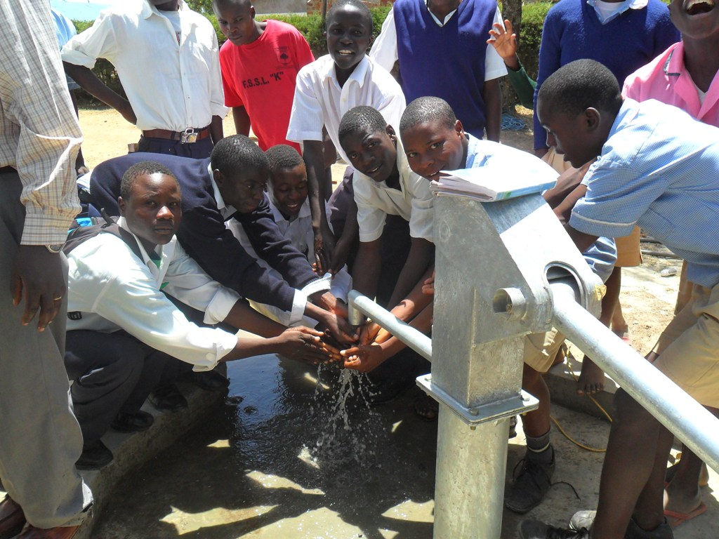 The Water Project : happy-students-lwanda-k-secondary-2
