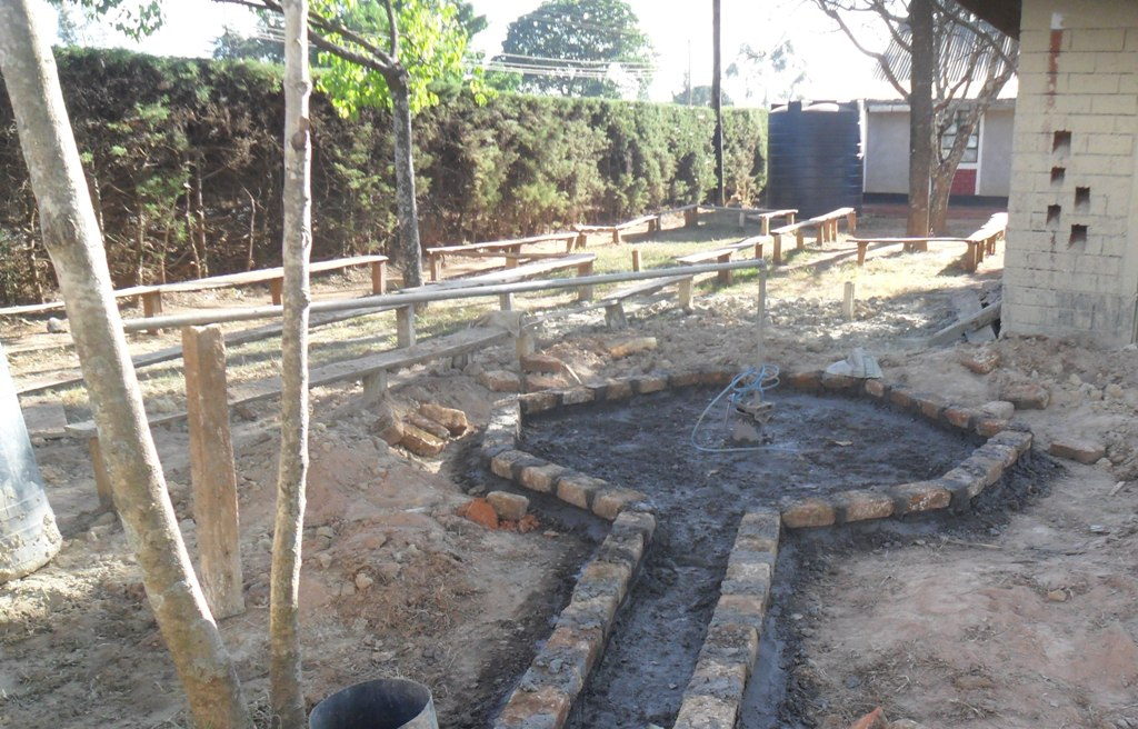 The Water Project : pad-construction-igunga-secondary-school-2