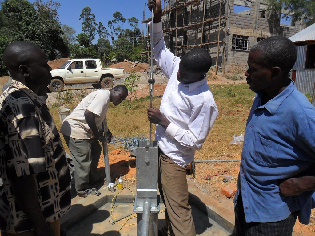 The Water Project : pump-installation-bushiangala-technical-institute-1-2