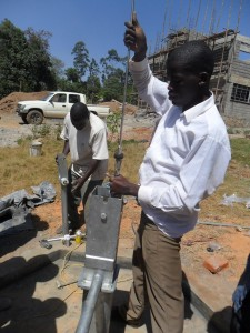 The Water Project : pump-installation-bushiangala-technical-institute