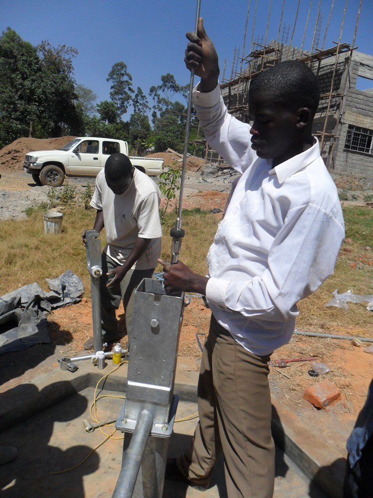 The Water Project : pump-installation-bushiangala-technical-institute-2