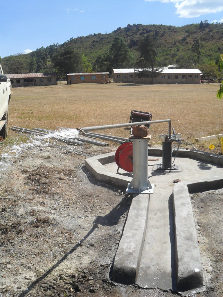 The Water Project : test-pumping-magale-sec-school