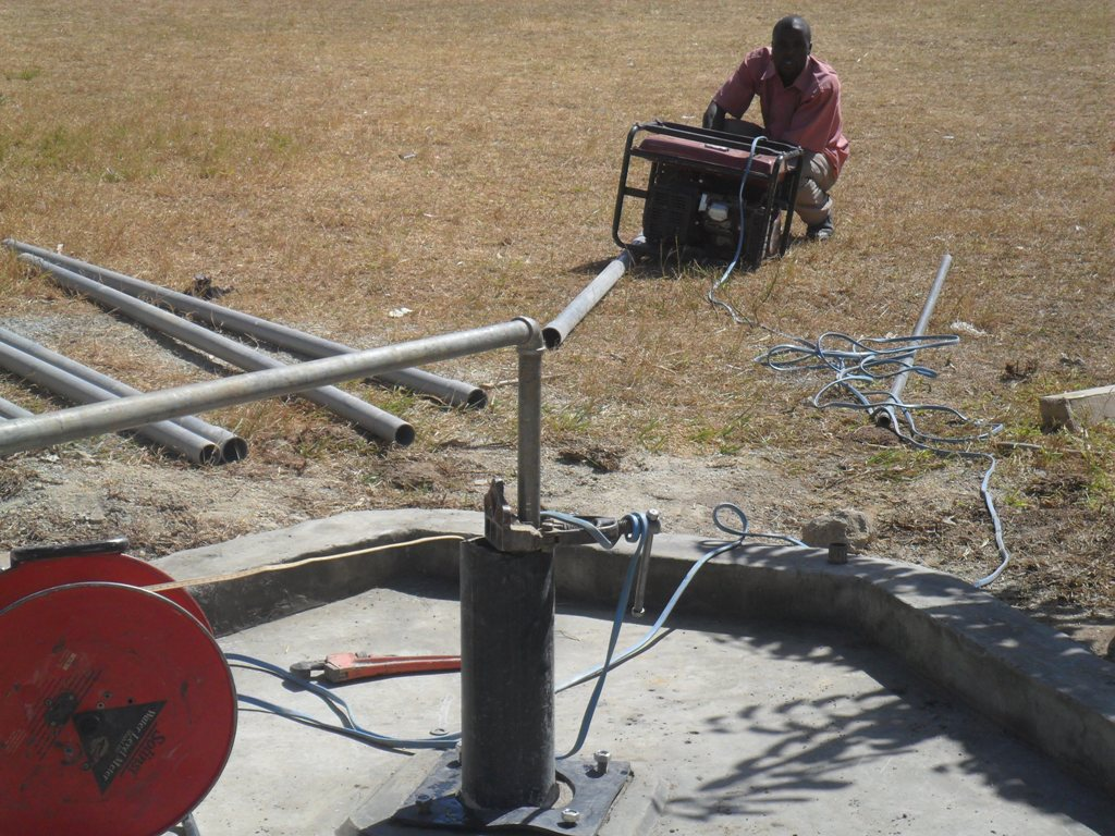 The Water Project : test-pumping-magale-secondary-1-2