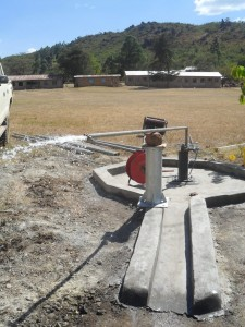 The Water Project : test-pumping-magale-secondary-3