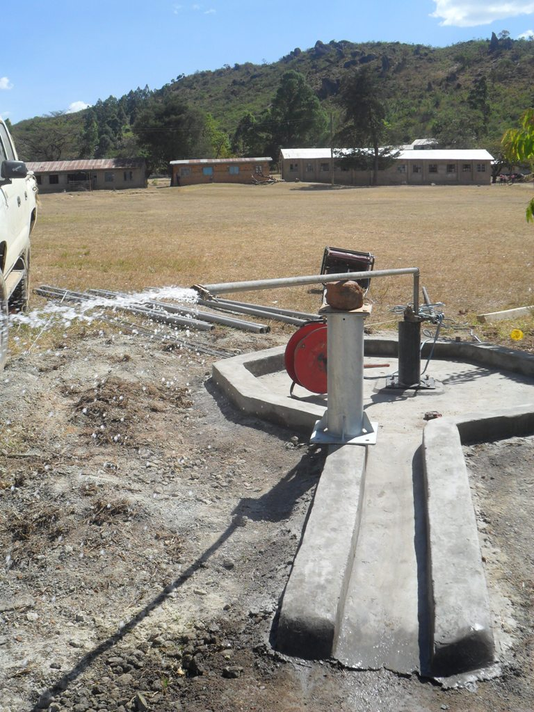 The Water Project : test-pumping-magale-secondary-4-2