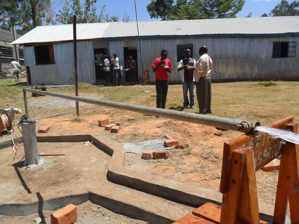 The Water Project : testpumping-bushianagala-technical-institute-2