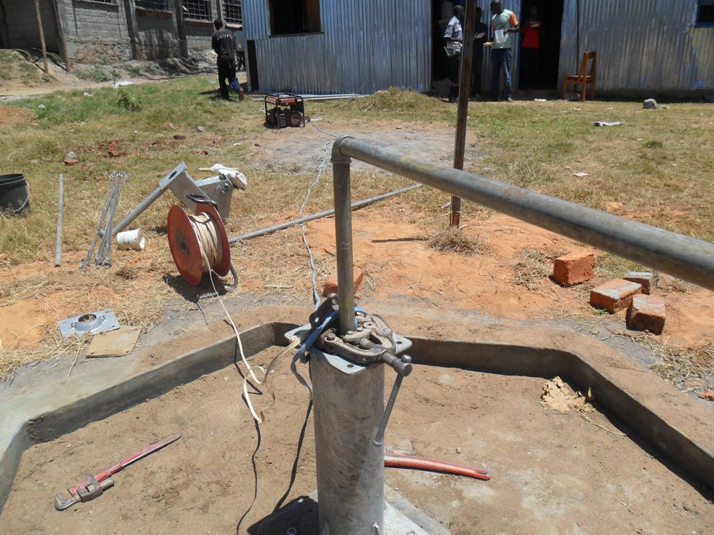 The Water Project : testpumping-bushiangala-technical-institute-2