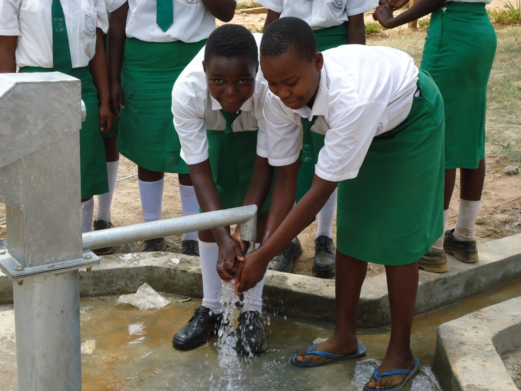 The Water Project : water-flowing-igunga-sec-school-2