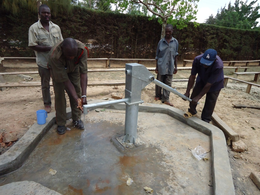 The Water Project : water-flowing-igunga-secondary-3