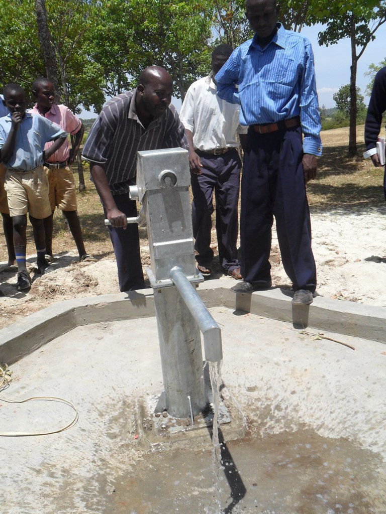 The Water Project : water-flowing-lwanda-k-sec-school-4