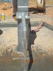 The Water Project : water-flowing-from-bushiangala-water-project